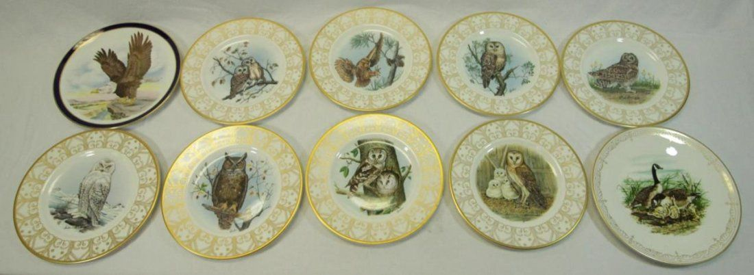 10 BOEHM AMERICAN PORCELAIN LIMITED ISSUE PLATES