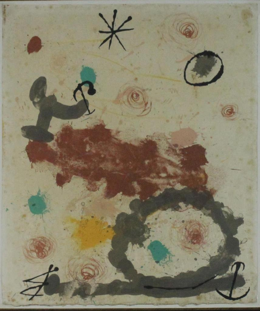 JOAN MIRO COLOR LITHOGRAPH ON HANDMADE PAPER