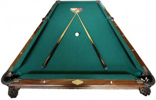 BRUNSWICK POOL TABLE WITH MONARCH CUSHION - Brunswick monarch pool table value