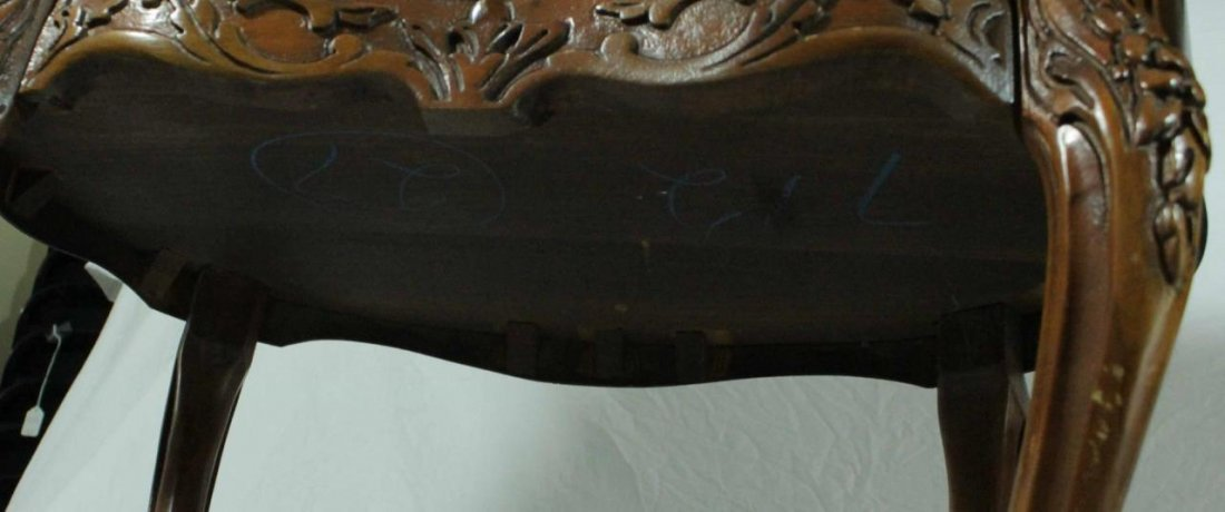 PAIR OF FRENCH STYLE MARQUETRY INLAID END TABLES - 7