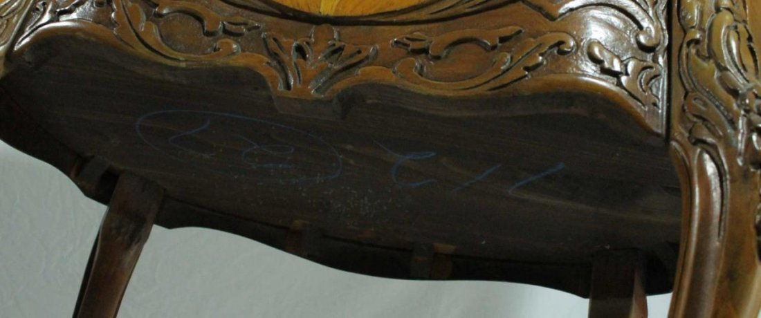 PAIR OF FRENCH STYLE MARQUETRY INLAID END TABLES - 8