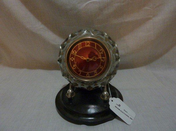 8: Russian USSR, Pressed Glass Clock