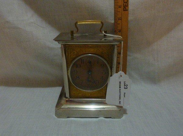 23: German Musical Carriage Clock