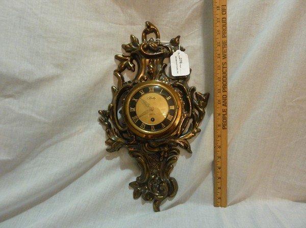 276: Bradley Brass Wall Clock