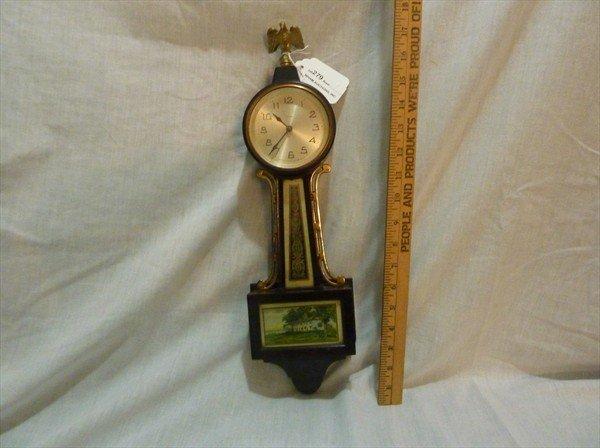 279: New Haven Miniature Banjo Clock