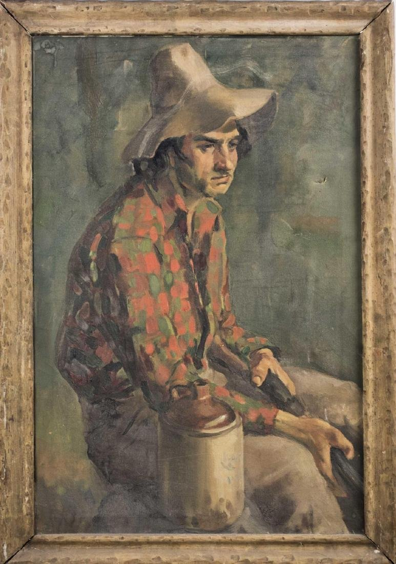 Sitting Peasant, Signed Melchior