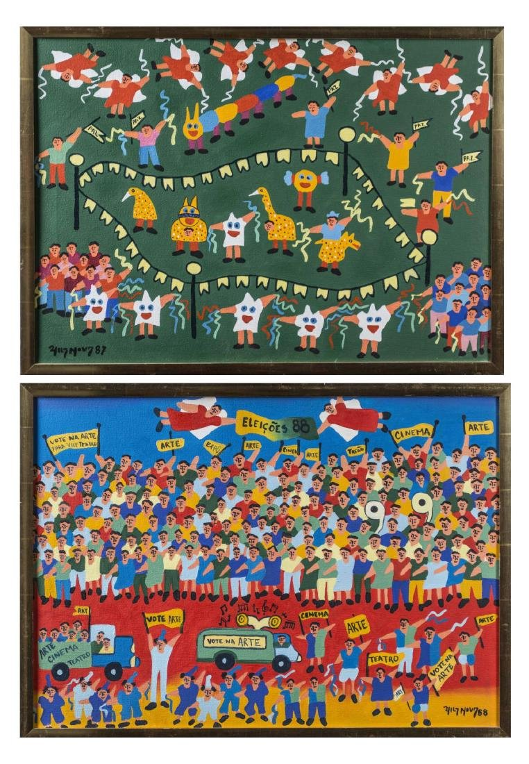 Pair of Brazilian Art Naif Works