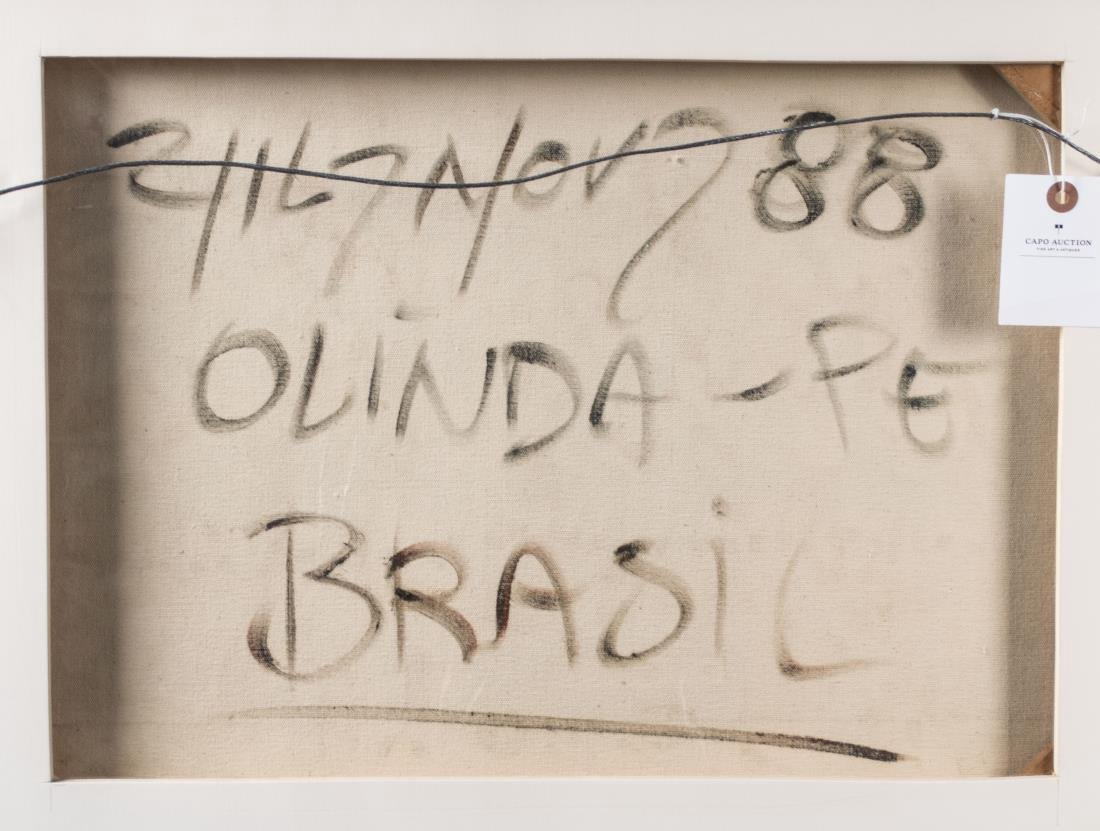 Pair of Brazilian Art Naif Works - 3