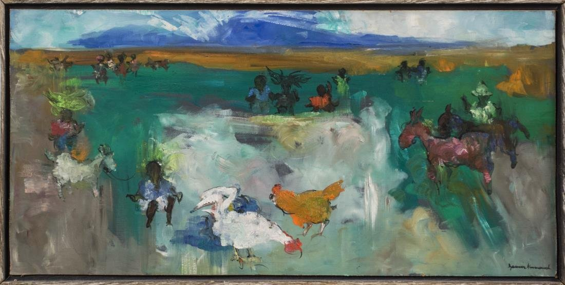 Abstracted Farming Painting