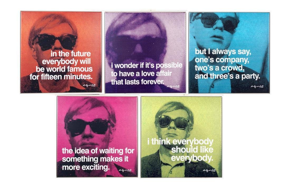 Five Andy Warhol Decorative Posters