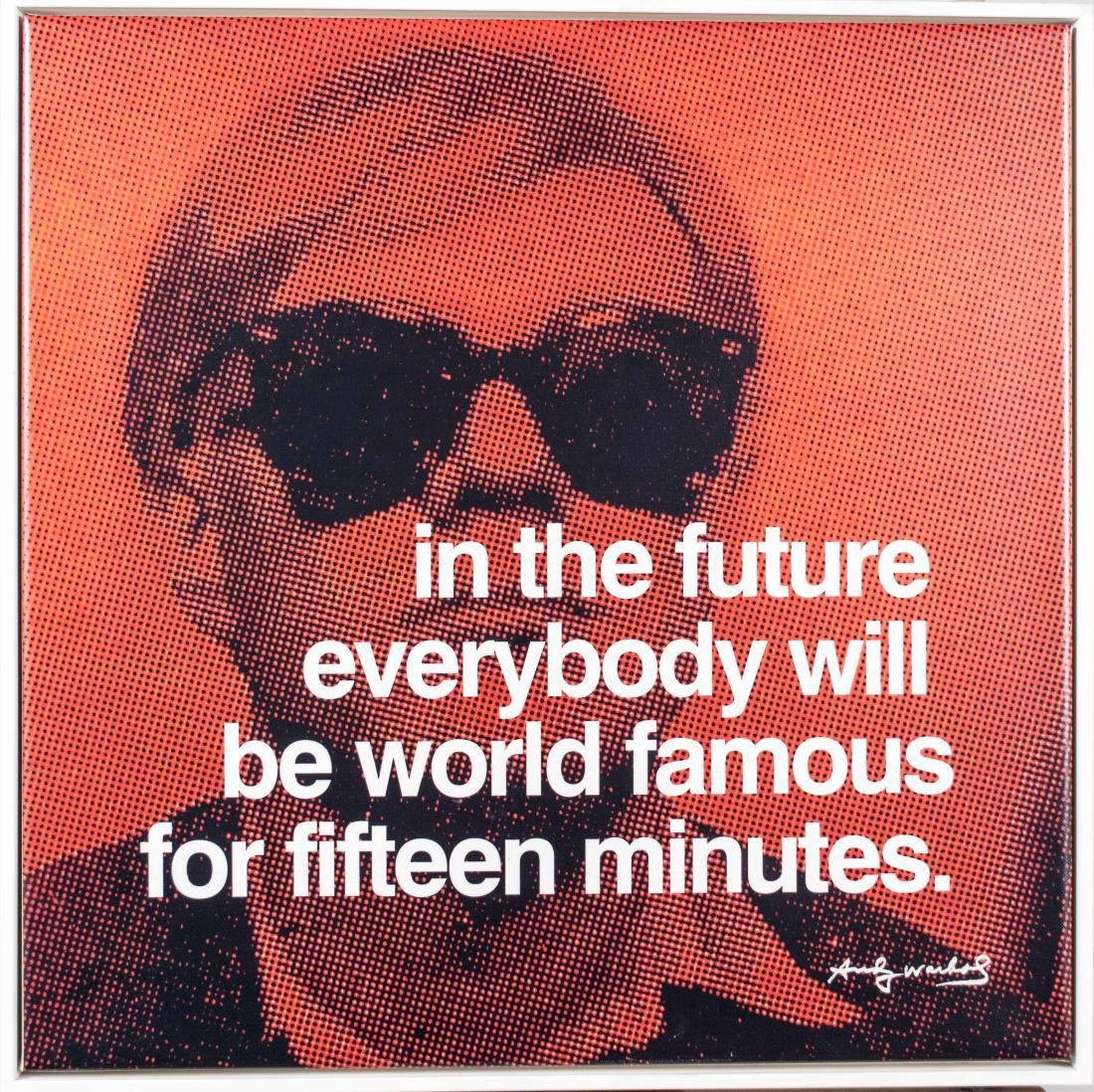 Five Andy Warhol Decorative Posters - 3
