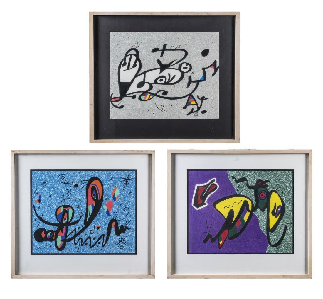 Three Abstract Prints by Volk