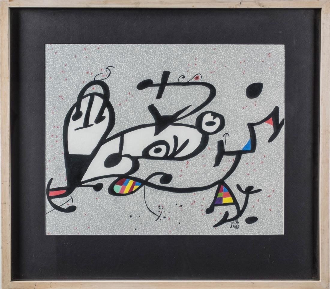 Three Abstract Prints by Volk - 4
