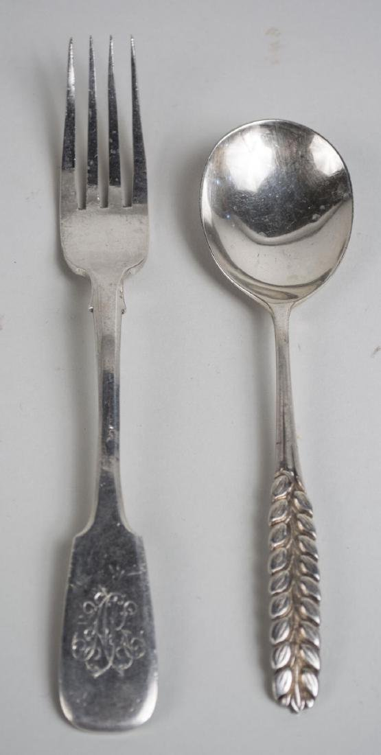 Group of Silver & Plated Silver Flatware - 2