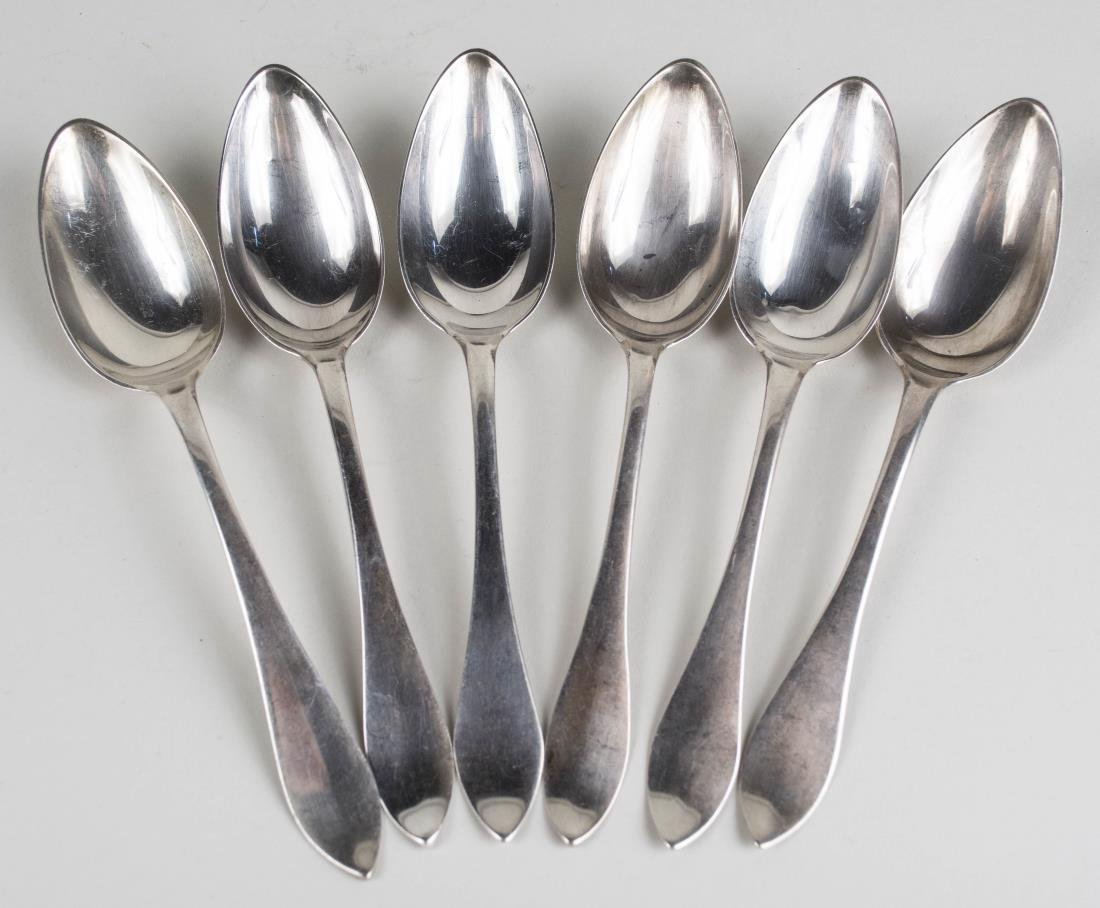 Set of Six Coin Silver Spoons