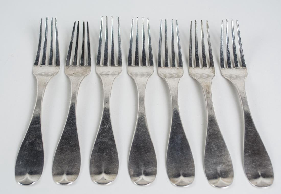 Set of Six American Coin Silver Forks