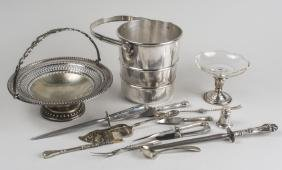 Group of Sterling and Silver Plated Articles