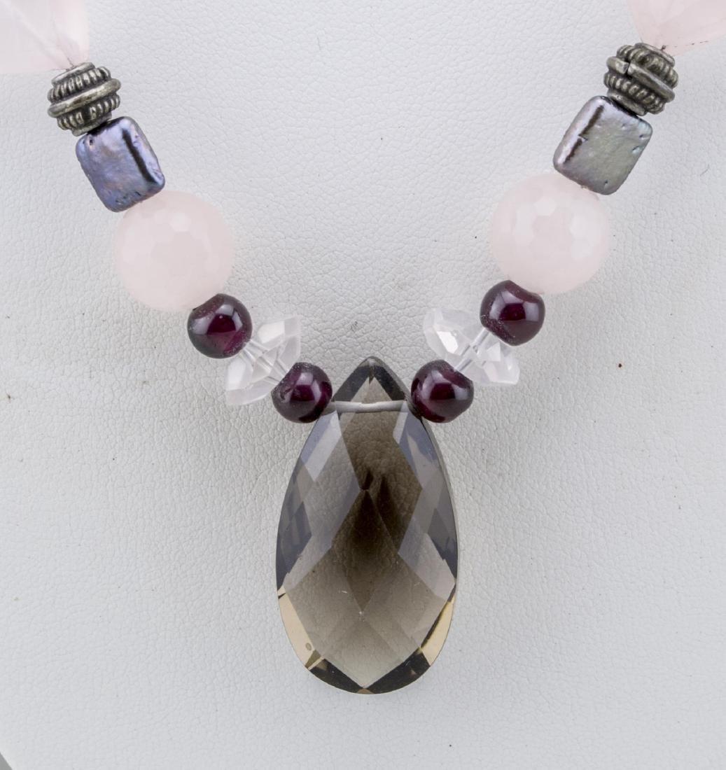 Rose Quartz Bead Necklace - 2
