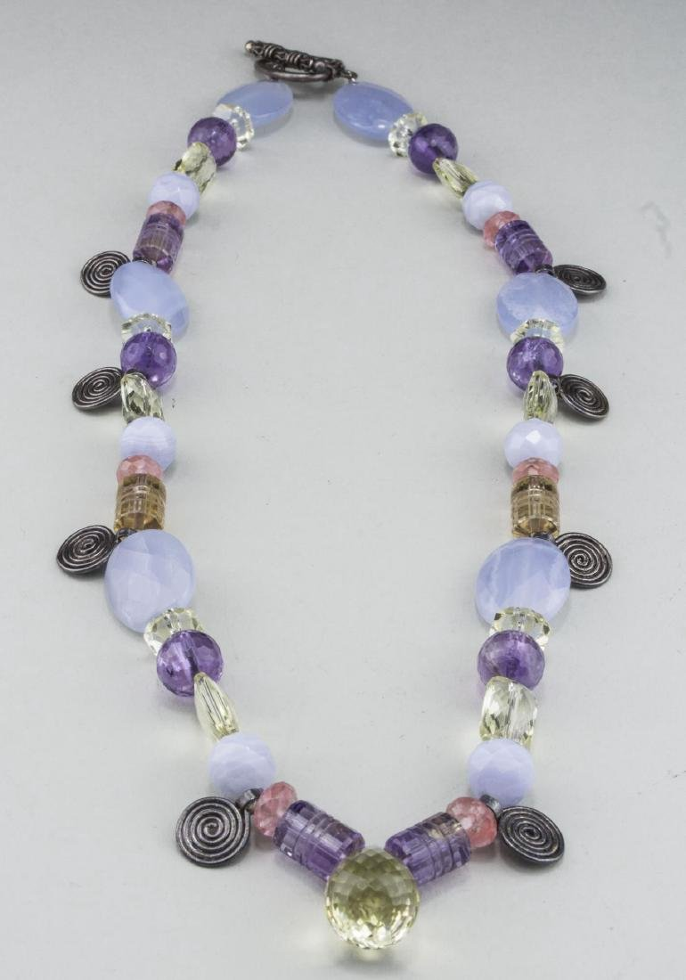 Gemstone Bead Necklace - 2
