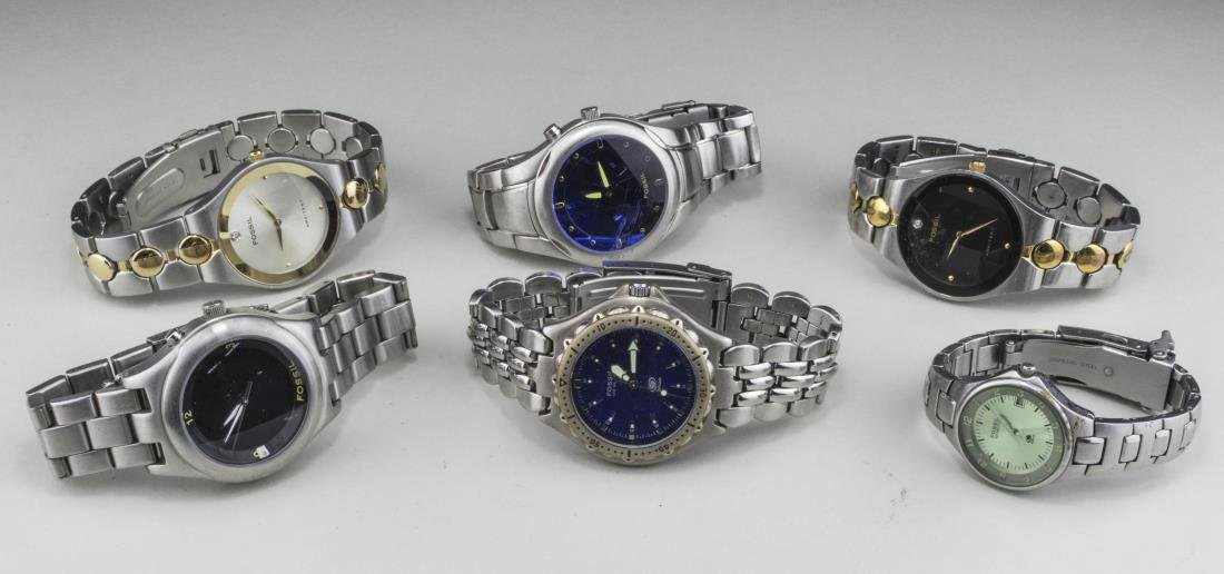 Group of Fossil Watches