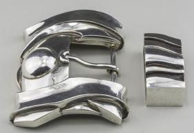 Two Kieselstein-Cord Sterling Silver Belt Buckles