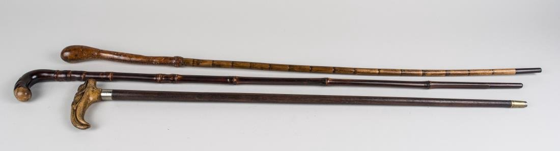 Three Vintage Walking Sticks - 2