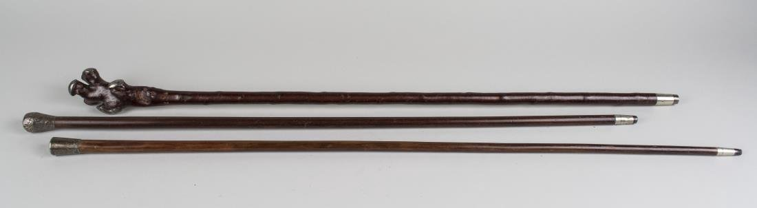 Three Silver Mounted Walking Sticks - 2