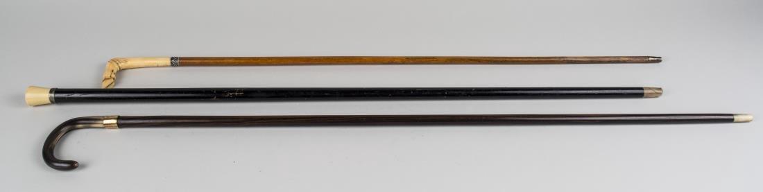 Three Vintage Walking Sticks - 2