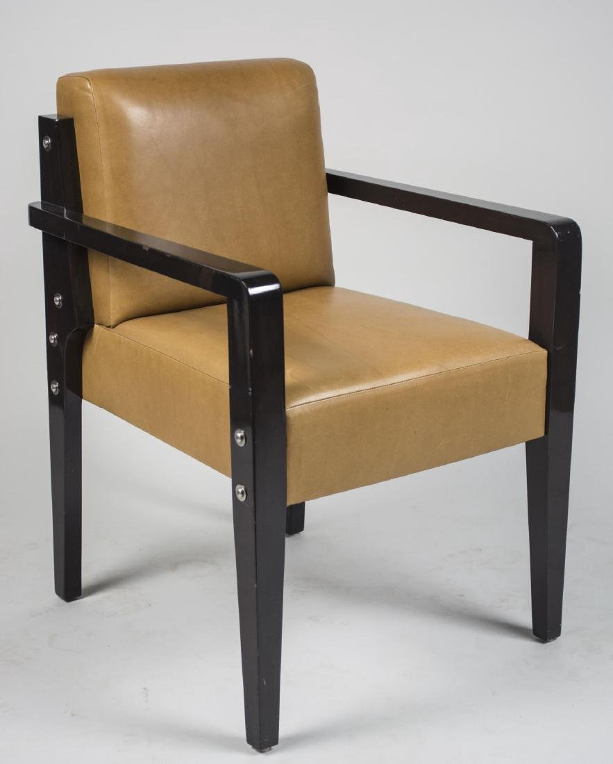 Dupre LaFon Style Leather Armchair