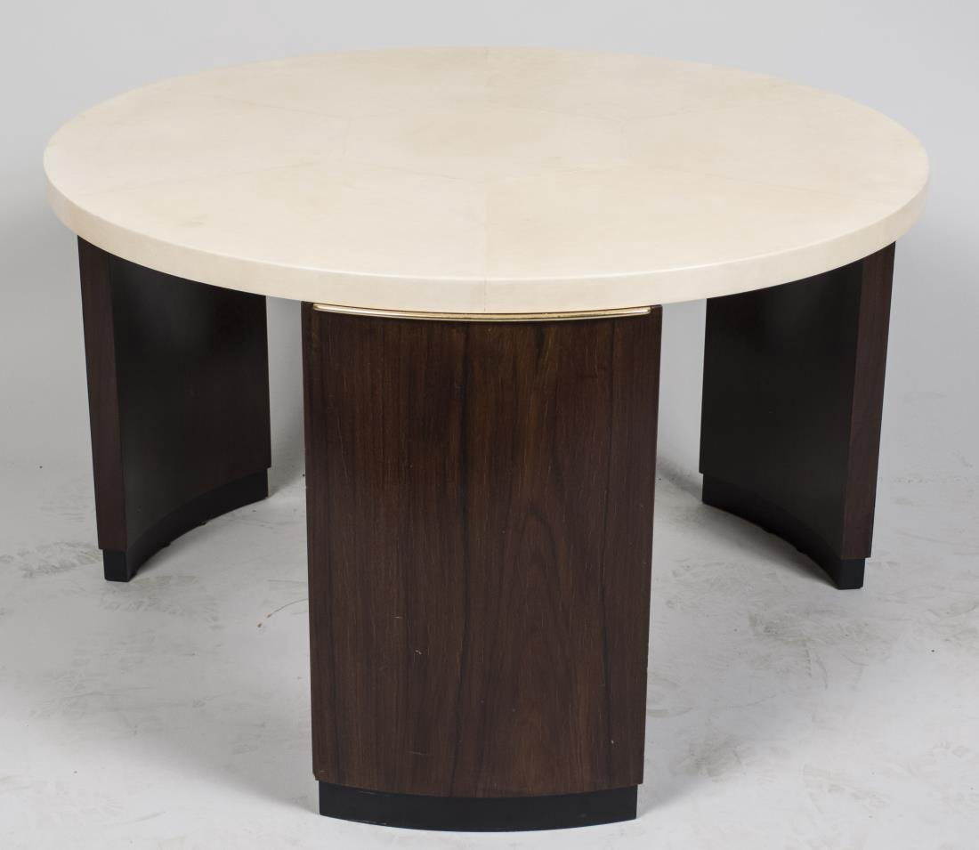 Dominque Style Goat Skin (Parchment) Coffee Table