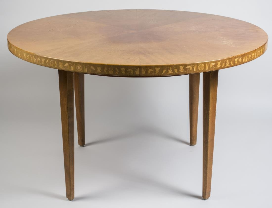 Modern Marquetry Dining Table