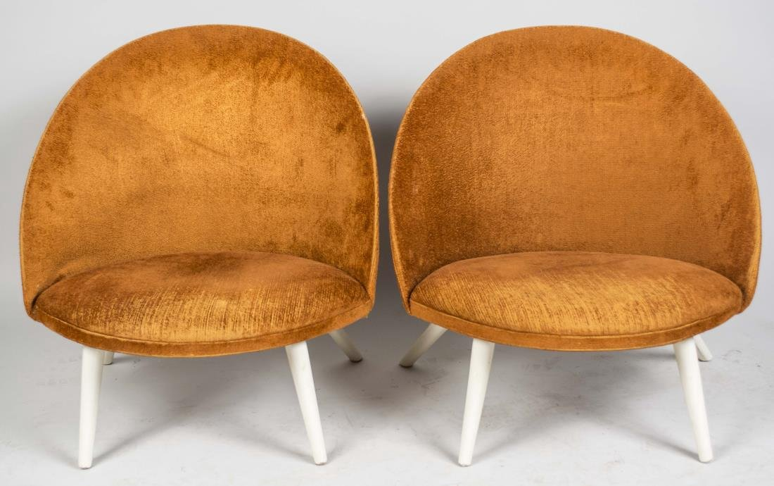 Pair of Danish Modern Saucer Chairs