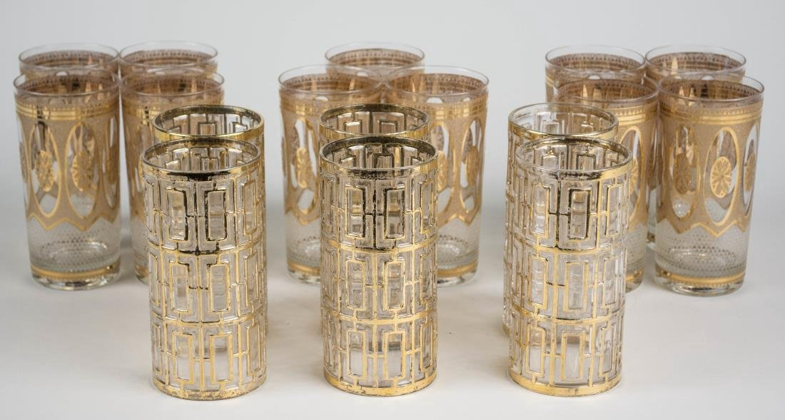 Two Sets of Mid Century Glassware