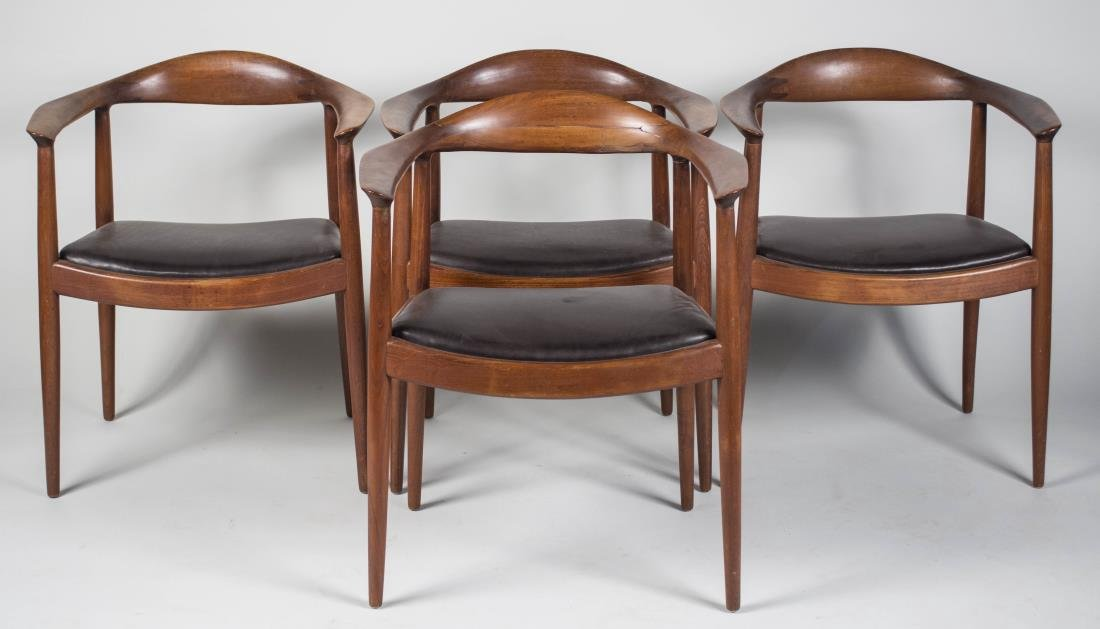 Set of Four Hans Wegner Style Armchairs