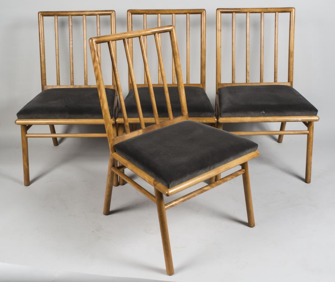 T.H. Robsjohn-Gibbings Set of Four Chairs