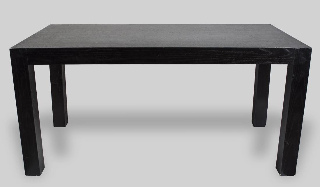 Parson Style Ebonized Wood Writing Table