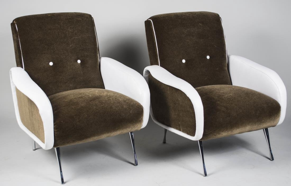 Pair of Marco Zanuso Style Chairs