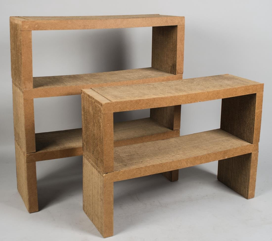 Set of Five Frank Gehry Stacking Shelves