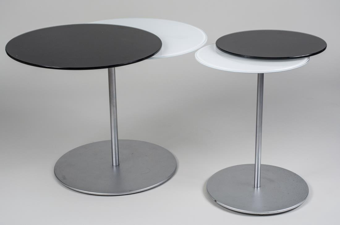 Two Glass Top Occasional Tables