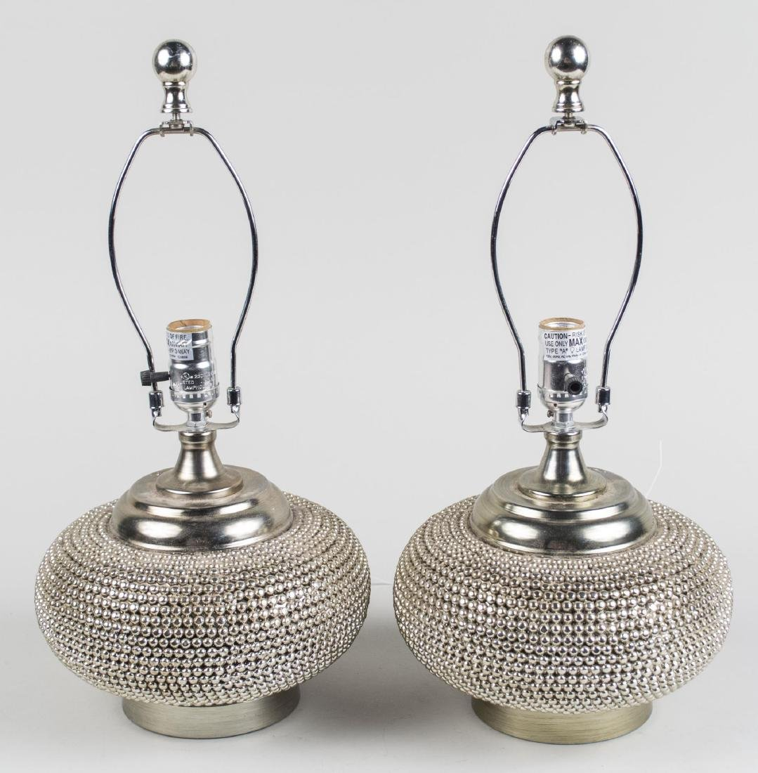 Pair of Beaded Lamps