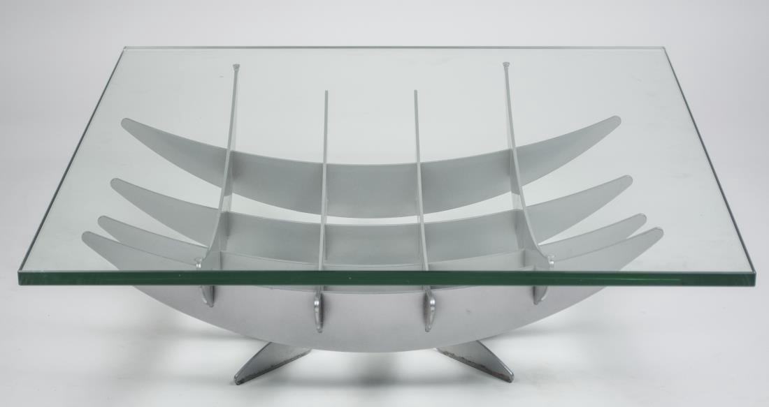 Architectural Metal Coffee Table