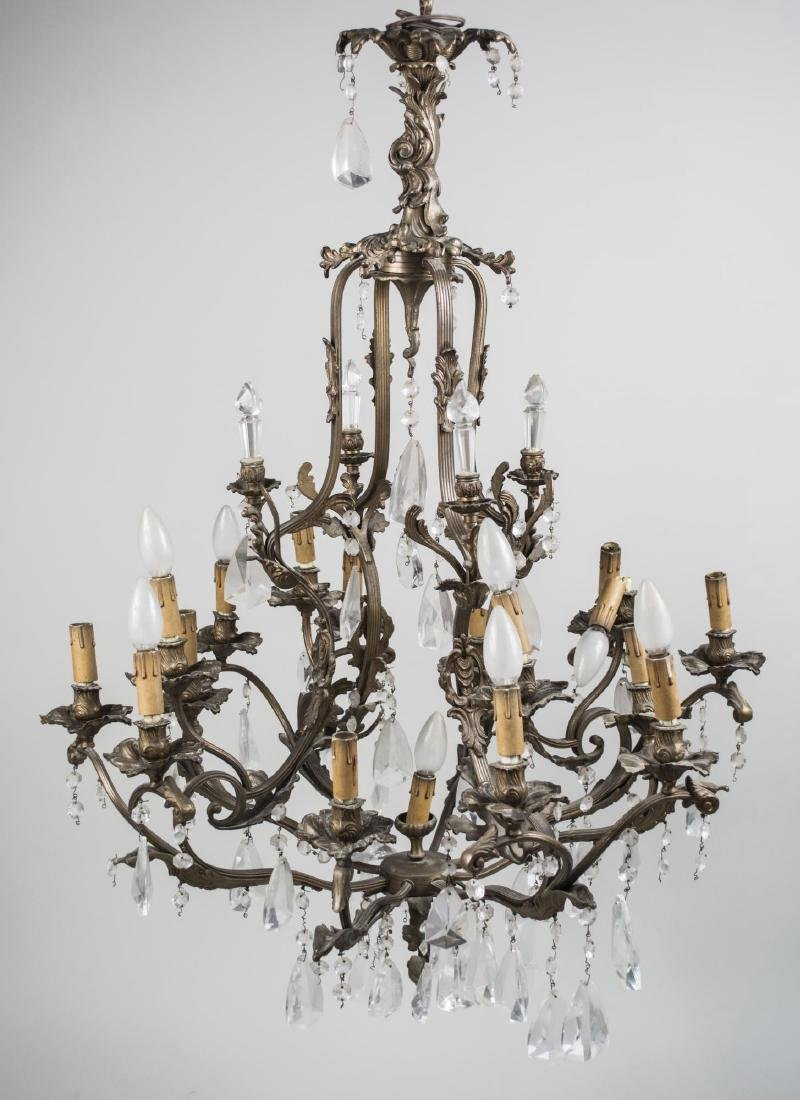 Louis XV Style Cage Form Chandelier