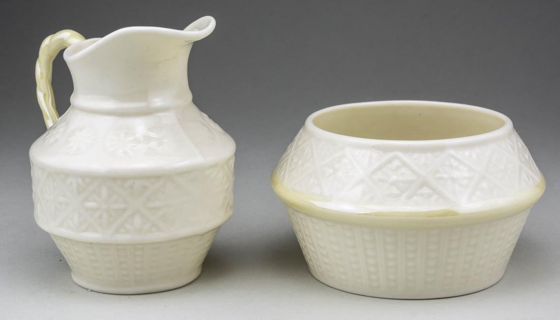 Belleek Porcelain Milk Jug and Sugar Bowl