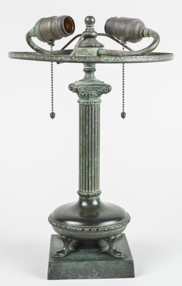Handel Patinated Metal Column Lamp - 2