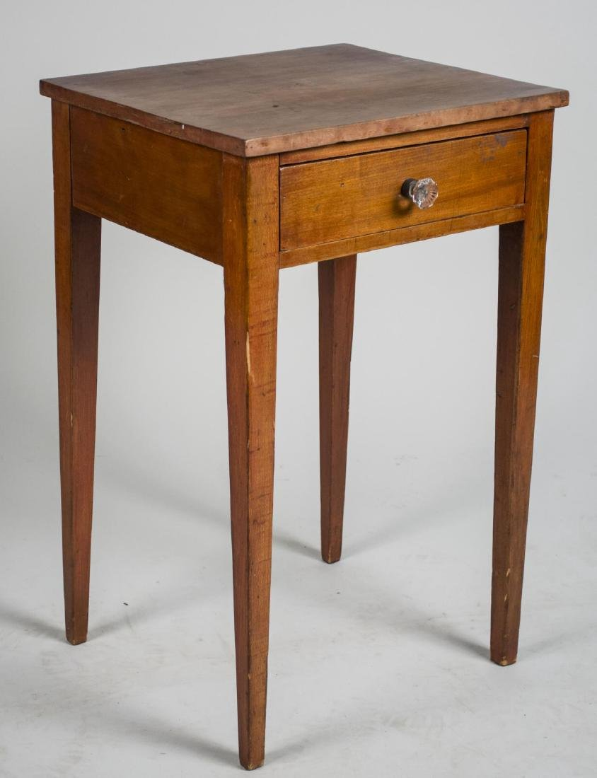 Fruitwood One Drawer Table