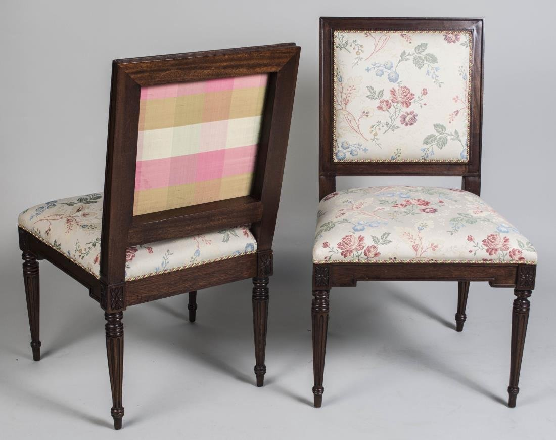 Pair of Louis XVI Style Side Chairs - 2
