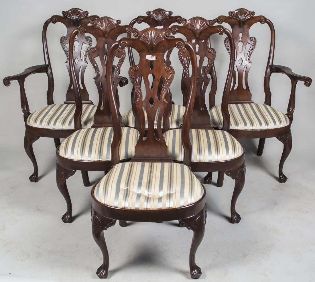 Set of Eight Henredon Dining Chairs   *