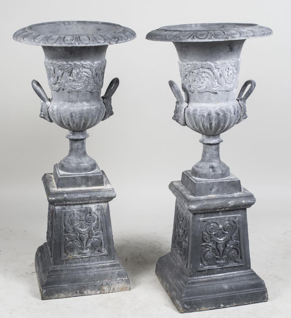 Pair of Garden Urns   *