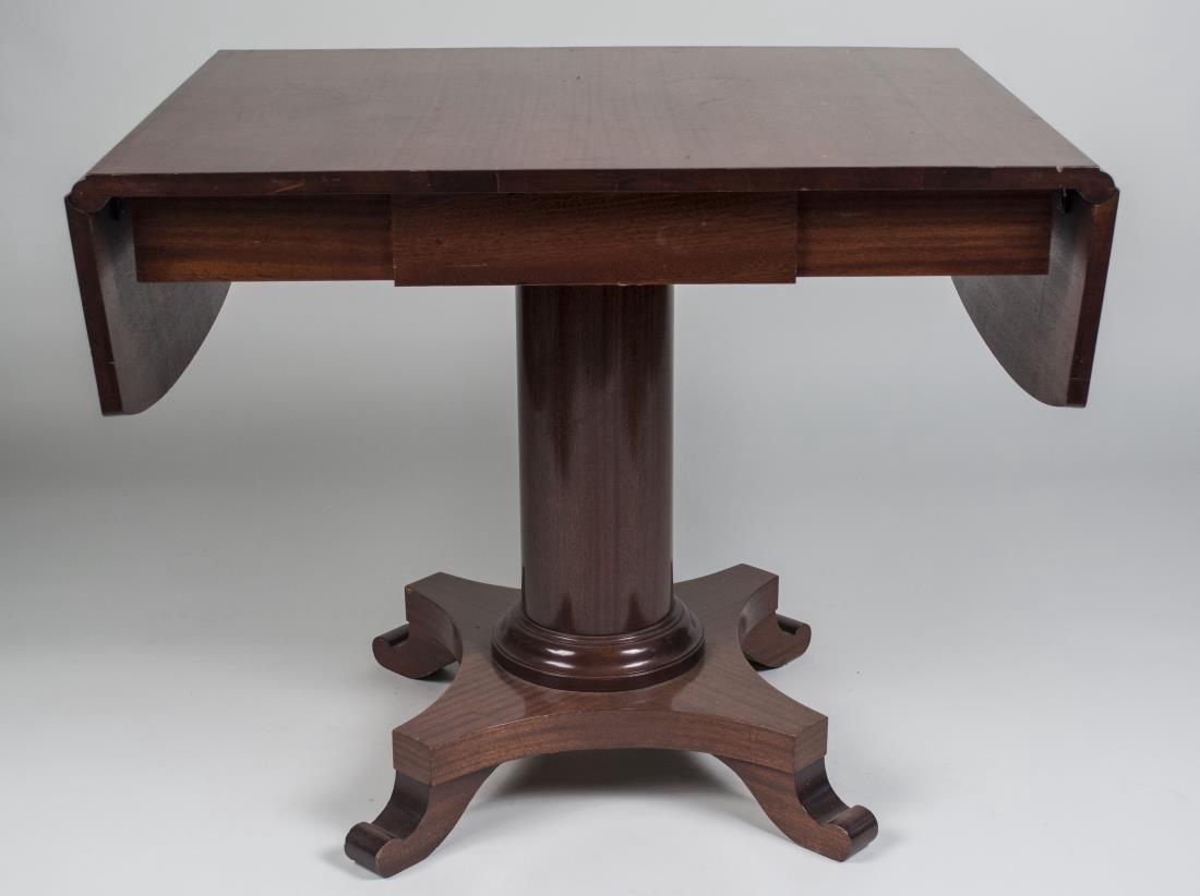 Mahogany Drop Leaf Pedestal Table