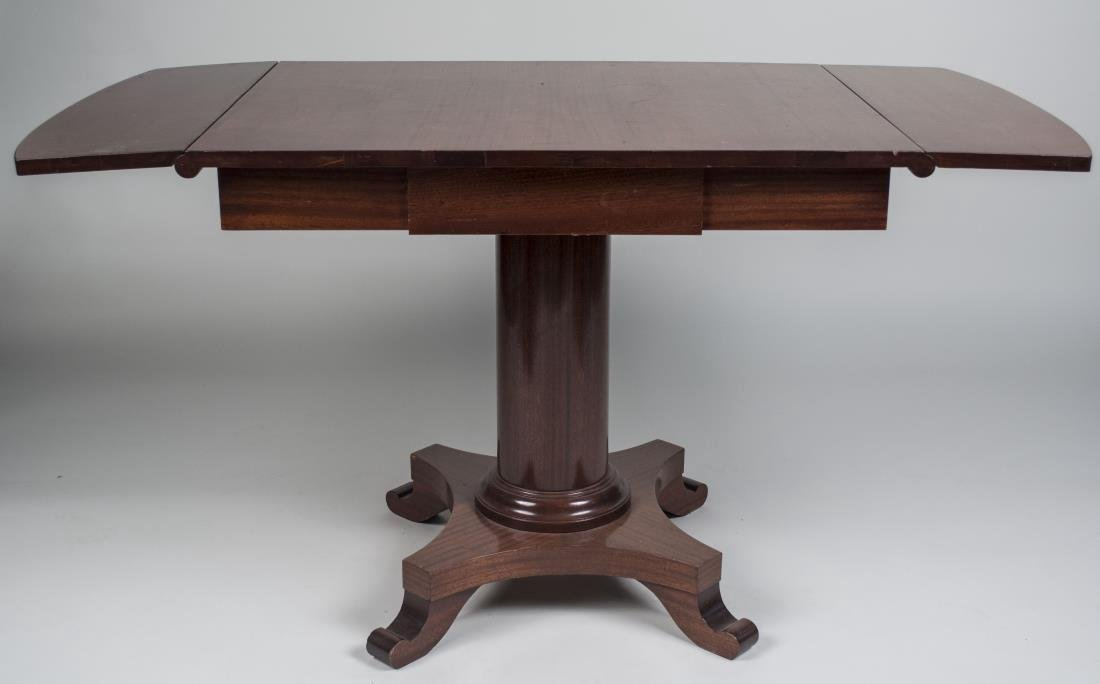 Mahogany Drop Leaf Pedestal Table - 2